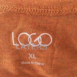 LOGO by Lori Goldstein Tops - LOGO  Lori Goldstein Terracotta Ruffle Top XL (L)